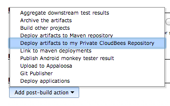 Post build actions with Maven