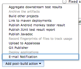 Post build actions with Gradle